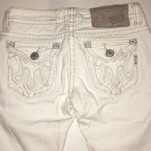 MEK Dallas white straight leg jeans